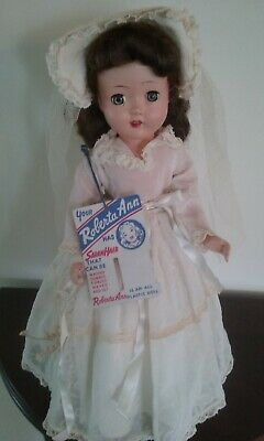 """Vintage 14"""" Roberta Ann Doll Bride Doll with 9 Outfits Clothes Sets"""