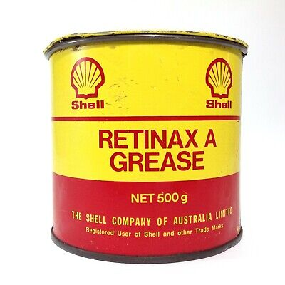 Vintage SHELL RETINAX A GREASE Tin 500g