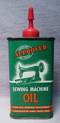 Vtg Laboratory Approved Tested 4 Oz Sewing Machine Oil Can Tin Handy Oiler