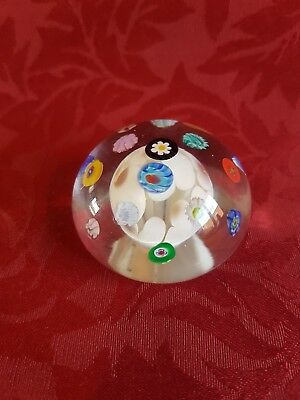 Murano Art Glass Paperweight with Label Antica Murrina Veneziana