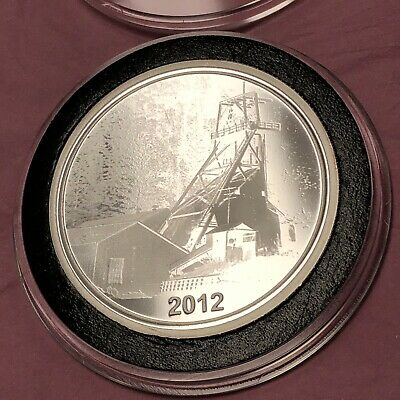 Extremely Scarce Sunshine Mine 1 Troy Oz .999 Fine Silver Proof Round Coin Medal