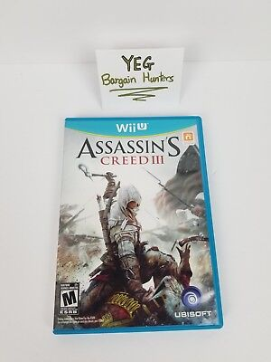 Assassin's Creed III 3 (Nintendo Wii U, 2012) Complete Tested Canadian Seller