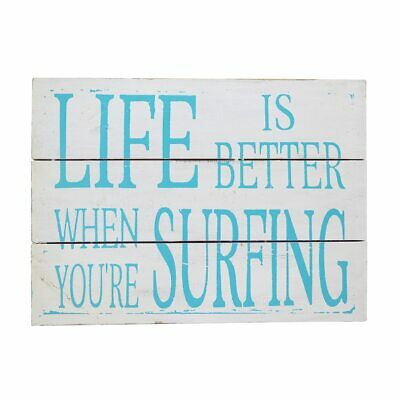 Beach House wall art sign Life is better when your surfing