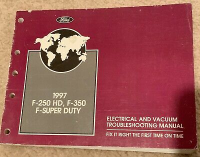 1997 ford truck f-250 f350 super duty wiring electrical diagram manual oem