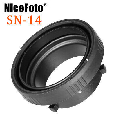 NiceFoto SN-14 Bowens Mount to Elinchrom Mount Adapter Ring For Strobe Flash
