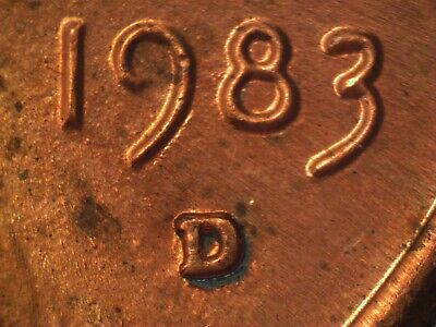 1983 D 1MM-007 Lincoln Cent Repunched Mint Mark