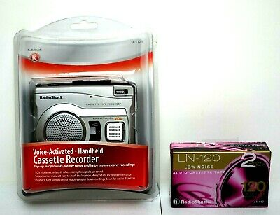Radio Shack Voice Activated Cassette Recorder 14-1129 & 2 Cassette Tapes NEW!