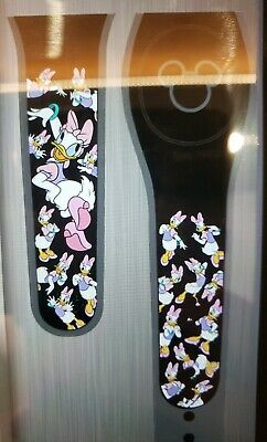 Disney DAISY DUCK Ultimate All Over Black Magic Band 2.0 Magicband Parks NEW