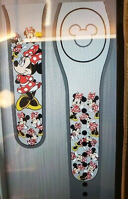 Disney MINNIE MOUSE BOW Ultimate All Over Grey Magic Band 2.0 Magicband Parks