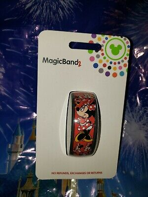 Disney MINNIE MOUSE BOW Ultimate All Over Red Magic Band 2.0 Magicband Parks