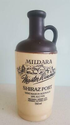 Mildara Shiraz Port Ceramic Bottle