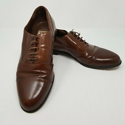 BRUNO MAGLI MENS Casual Dress Shoes Soft Brown Leather Lace