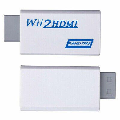 Full HD HDTV Output 3.5mm Audio 1080P Adapter Video Wii to HDMI for Nintendo Wii