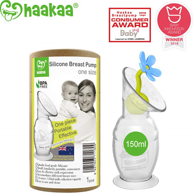 Haakaa Manual Breast Pump with Suction Base and Flower Stopper 100% Food Grade