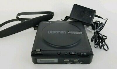 SONY Discman Model D-2 Portable CD Player 1989 Tested Cleaned With Wall Charger