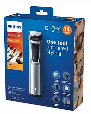Philips Mg7720/15 Regolabarba  Rifinitore Multigroom Serie 7000 14 In 1