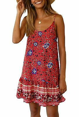 Women's Sexy V Neck Short Sleeve Floral Wrapped Dress Summer Boho Beach Coverup