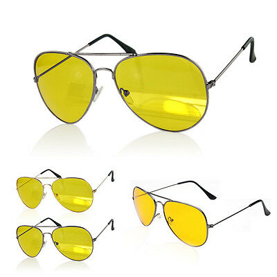 Driving Prevention Glasses Anti Glare UV400 Sunglasses Night Vision Yellow