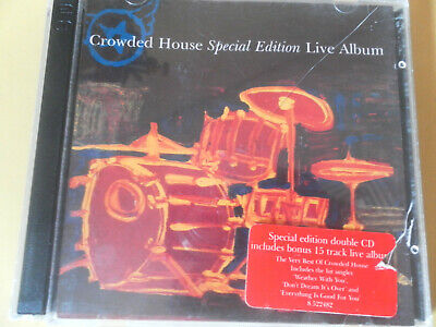 1996 Vintage Crowded House Special Edition Live Album Cd 2 Disc - 34 Tracks Vgc