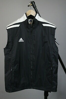 -Vintage!- ADIDAS Men GB 42-44 or ~L-XL Air Vent Nylon Waistcoat / Vest JS14400_