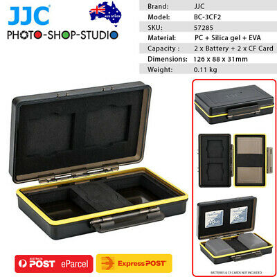 AU STOCK *JJC Multi-Function Battery Case for 2x Battery + 2x CF Card