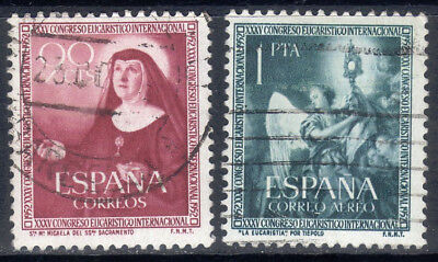 Spanish used stamps. Full set from 1952. Edifil 1116-1117.