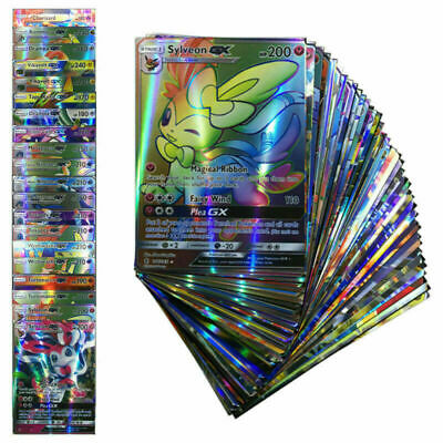 60/100/200 PCS EX GX MEGA Energy Pokemon Cards Bundle Holo Trading Flash Cards