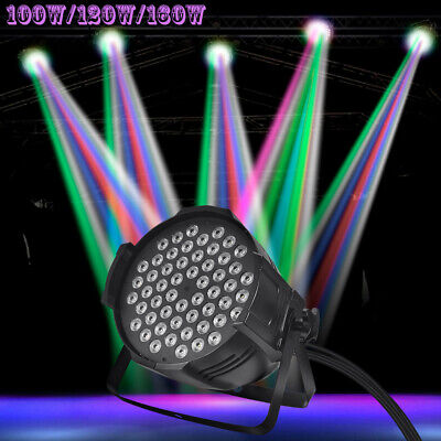 160W 120W 100W RGBW LED Stage PAR Light DMX512 Disco Party Club Wedding Show