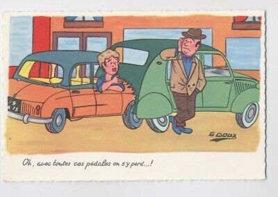 ACCIDENT de VOITURE - 2cv - Humour - Illustration Goux - 2 cv