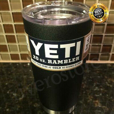 Brand New YETI Rambler 20 OZ Tumbler without MagSlider Lid Black color