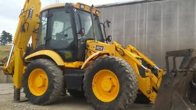 Jcb 4CX Sitemaster Chrome Autocollant Ensemble