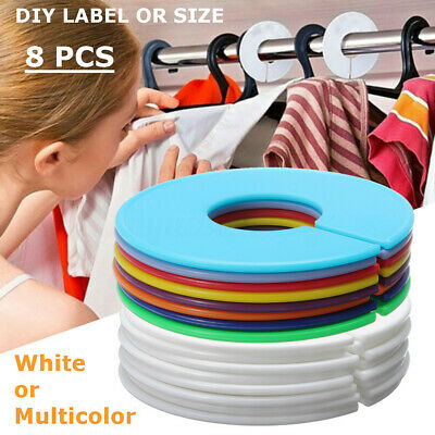 Round Size Dividers Clothing Blank Rack Hangers Ring DIY Stores Multicolors