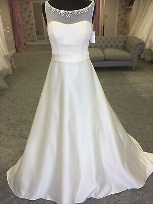 Ellis A-Line wedding dress, size 12, satin ivory, with tags, great condition