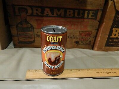 BARRELHEAD Root Beer (Canada Dry_Rochester, NY) COIN BANK CAN Vtg Promo Ltd