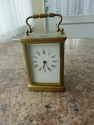 Vintage Brass Carriage Clock In Gwo But Requires Cleaning.