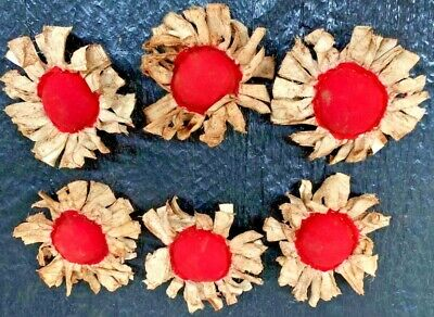 Primitive  Bowl Fillers/ Sunflowers/white/Red  Center/Grunged