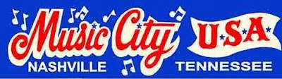 Nashville TN Tennessee Music City   vintage looking Travel Decal  bumper sticker