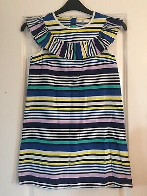 M&S Kids Multicoloured Stripped Girls Dress Age 10-11 Years Marks & Spencer