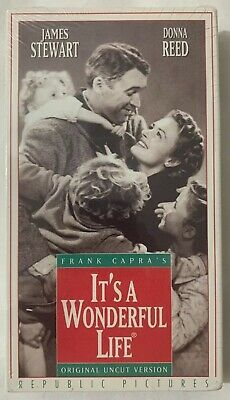 It's A Wonderful Life VHS James Stewart / Donna Reed New Factory Sealed - Rare
