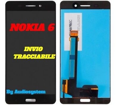 DISPLAY LCD+TOUCH SCREEN NOKIA per 6 N6 TA-1021 NERO VETRO SCHERMO TA-1033
