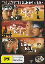 The Karate Kid Trilogy Part 1, 2, and 3 The Ultimate Collector's Pack DVD vgc t2