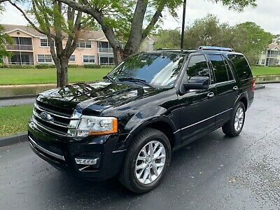 2017 Ford Expedition Black Black Ford Expedition Limited 2017 78,000 Miles Coral Springs 4x2 3.5L Flex Fuel