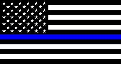 Blue Lives matter Made in the USA High Quality Metal Fridge Magnet 2.1 x 4 9076