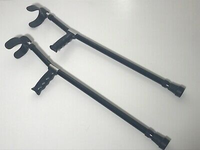 Forearm Elbow Crutches Small Adult - Medium Teen Size PAIR Double Adjustable