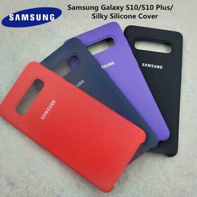 Genuine Case for Samsung Galaxy S10 Plus S9 S8 Shockproof Silky Silicone Cover