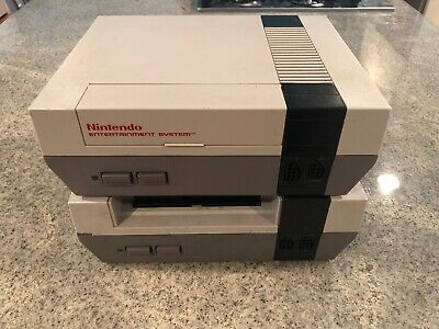 2 Nintendo Entertainment Systems (Not Working, For Parts, 2 Controllers, RF...