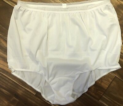 New NOS Vtg SEARS Panties Gusset Pillow Tab White Panty Briefs Sz 9 NWOT (43-44)