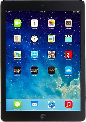 Apple iPad Air 1st Gen Black & Space Gray 16GB Wi-Fi  9.7in iOS 12.2 Great Deal
