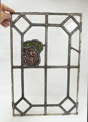 "Antique Stained Glass Window ""Old Man of the Forest"""