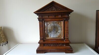 D R G M German Wooden Cased 8 Day Mantle Clock
